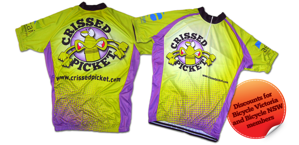 Crissed Picket custom cycling jersey